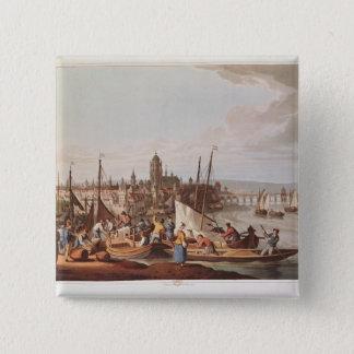 View of Frankfurt, 1814 Pinback Button
