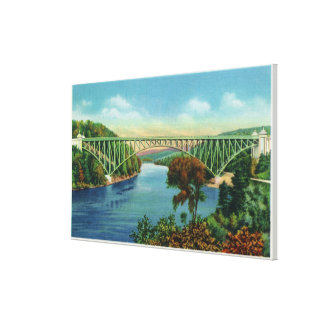 View of French King Bridge over Connecticut Canvas Print