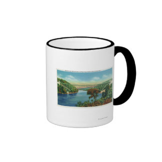 View of French King Bridge over Connecticut Mugs