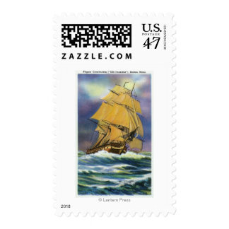 View of Frigate Constitution, Old Ironsides Postage