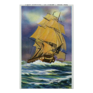 View of Frigate Constitution, Old Ironsides Poster