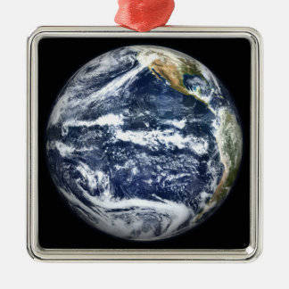 View of Full Earth centered over the Pacific Oc Metal Ornament