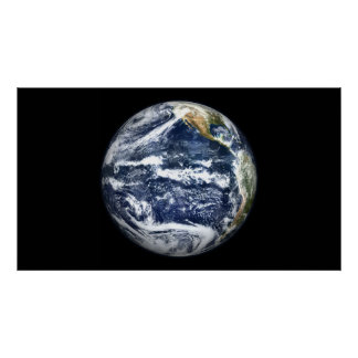 View of Full Earth centered over the Pacific Oc Poster