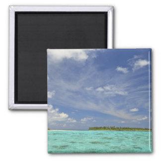View of Funadoo Island from Funadovilligilli 3 Refrigerator Magnets