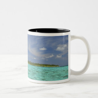 View of Funadoo Island from Funadovilligilli 3 Two-Tone Coffee Mug