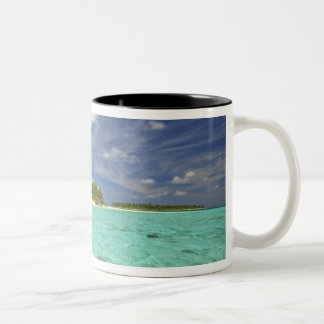 View of Funadoo Island from Funadovilligilli Two-Tone Coffee Mug