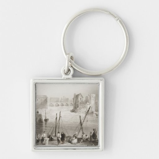 View of Galway from the Claddagh Keychains