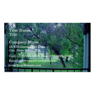 View of garden from building business card template