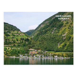 View of Geiranger, Ørnevegen, Norway Postcard