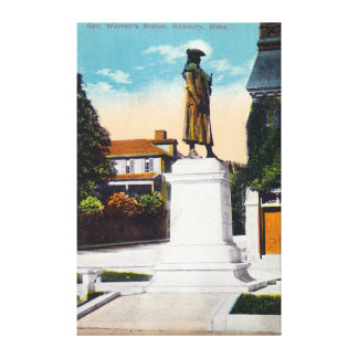View of General Warren's Statue Canvas Print