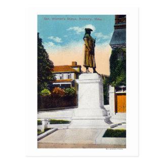 View of General Warren's Statue Postcard