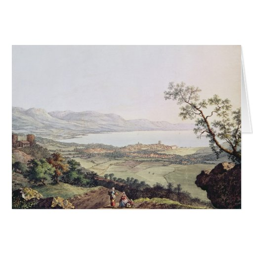 View of Geneva from Saconex in Savoy Greeting Card
