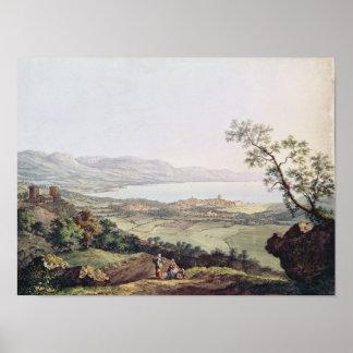 View of Geneva from Saconex in Savoy Print