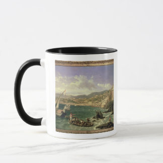 View of Genoa, 1854 (oil on canvas) Mug
