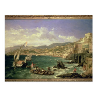 View of Genoa 1854 oil on canvas Post Cards