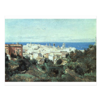 View of Genoa by Camille Corot Postcard