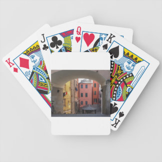 View of Genoa old town in Italy Poker Deck