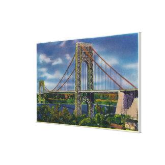 View of George Washington Bridge Gallery Wrap Canvas