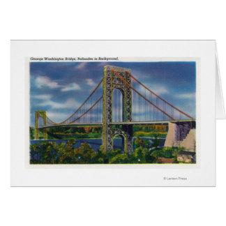 View of George Washington Bridge Card