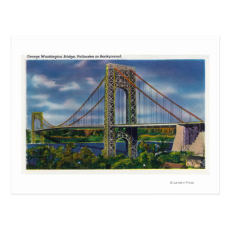 View of George Washington Bridge Post Card