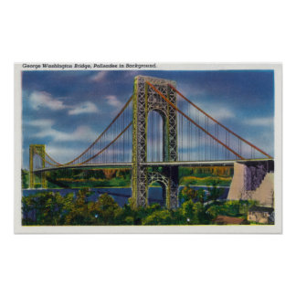 View of George Washington Bridge Posters