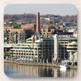 View of Georgetown and Waterfront-Washington DC Beverage Coaster