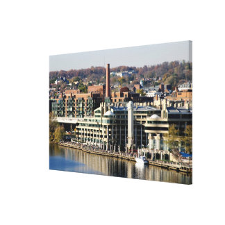 View of Georgetown and Waterfront-Washington DC Gallery Wrapped Canvas