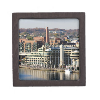 View of Georgetown and Waterfront-Washington DC Keepsake Box