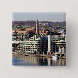View of Georgetown and Waterfront-Washington DC Pinback Button