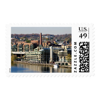 View of Georgetown and Waterfront-Washington DC Stamps
