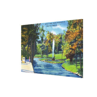 View of Geyser Park Stretched Canvas Prints