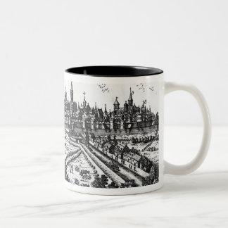 View of Ghent Two-Tone Coffee Mug