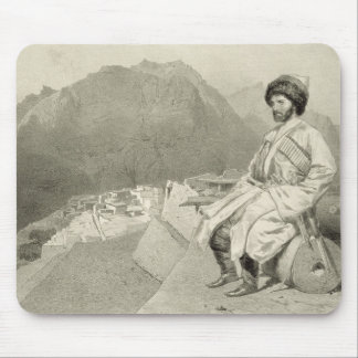 View of Ghimri and Portrait of Hadji-Mourad, plate Mouse Pad
