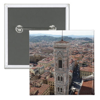 View of Giotto's Bell Tower (Campanile di Pinback Button