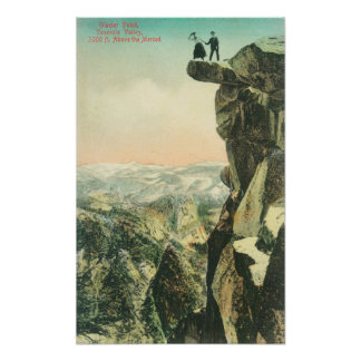 View of Glacier Point Looking Over Yosemite Poster