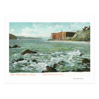 View of Golden Gate and Fort Point Postcard
