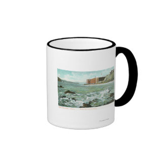 View of Golden Gate and Fort Point Ringer Mug