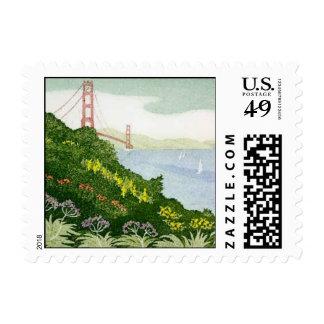 View of Golden Gate Bridge by Elizabeth Kavaler Postage
