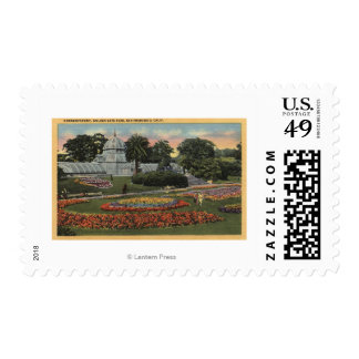 View of Golden Gate Park & Conservatory Stamps