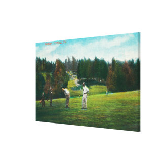 View of Golfer About Ready to SwingOakland, CA Gallery Wrap Canvas