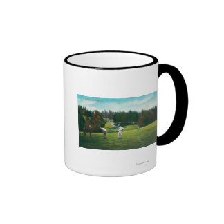 View of Golfer About Ready to SwingOakland, CA Mug
