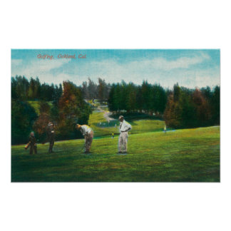 View of Golfer About Ready to SwingOakland, CA Posters