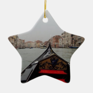 View Of Grand Canal From A Gondola Ceramic Ornament