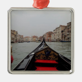 View Of Grand Canal From A Gondola Metal Ornament