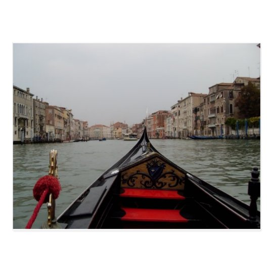 View Of Grand Canal From A Gondola Postcard