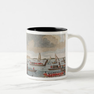 View of Gravesend with troops Two-Tone Coffee Mug