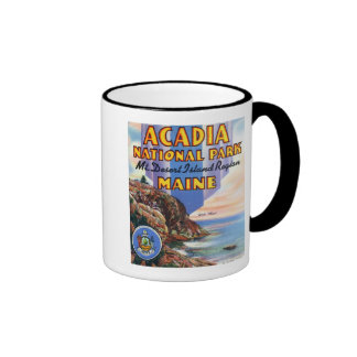 View of Great Head and Maine Seal Ringer Coffee Mug