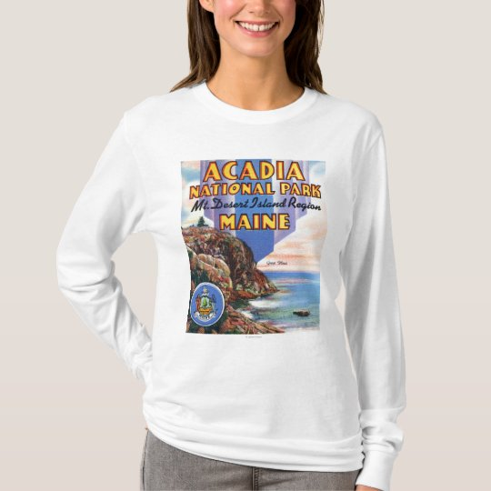 View of Great Head and Maine Seal T-Shirt