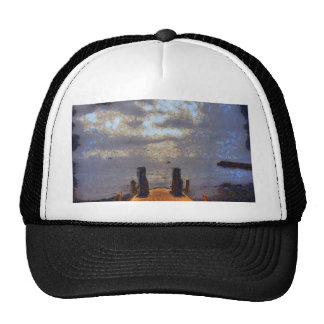View of great storm from lake shore trucker hat