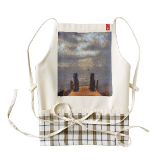 View of great storm from lake shore zazzle HEART apron